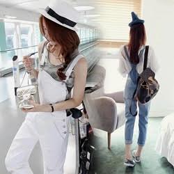 韓版牛仔背帶褲