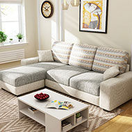 采軒緹L型獨立筒布沙發