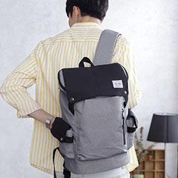 防潑水拼接多功能後背包