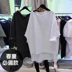 純棉寬鬆長袖t恤