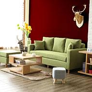 小資瑞恩L型獨立筒布沙發