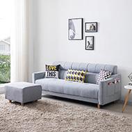泰戈爾L型獨立筒布沙發