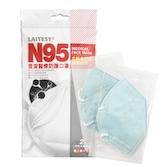 萊潔 N95醫療防護口罩-顏色隨機 (2入/包)