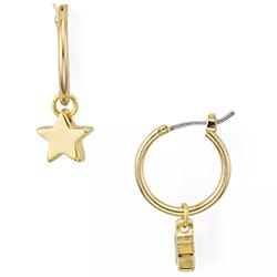 Helen Owen Dangling Star Charm Earrings