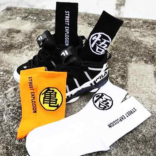 七龍珠潮流文字襪