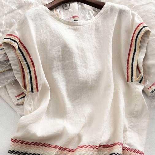 亞麻日系風棉麻衫