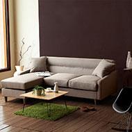 小資簡約L型布沙發