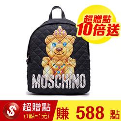 MOSCHINO 皇冠小熊圖騰後背包