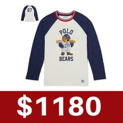 Ralph Lauren POLO青年款印花長袖T恤