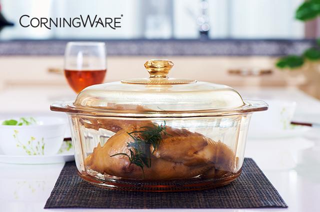 """新上市玻璃陶瓷鍋 """"看得見""""的透明康寧鍋"""