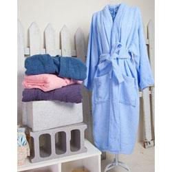 翻領素色浴袍