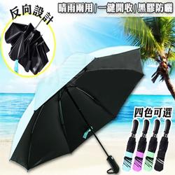 自動反向晴雨傘