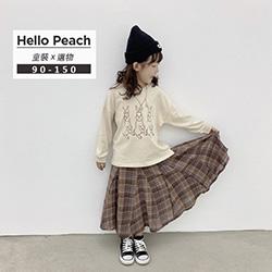 森系設計感格子長裙