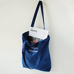 文青風簡約帆布購物袋