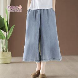 夏季薄牛仔裙褲