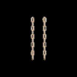 Sway Medium Chain Earrings Long