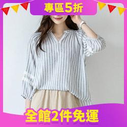 正韓印花蕾絲襯衫