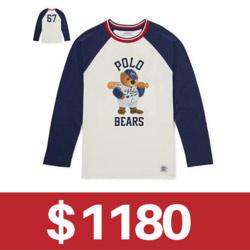 Ralph Lauren POLO熊印花長袖T恤