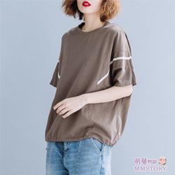原宿情侶寬鬆棉T恤