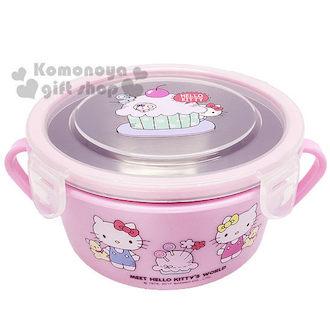 Hello Kitty 不鏽鋼雙耳隔熱碗