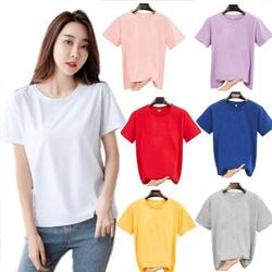 糖果色素面T恤(8色)