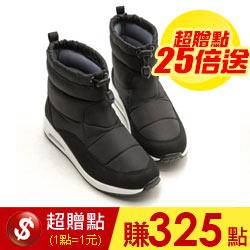 防潑水羽絨束口氣墊太空靴