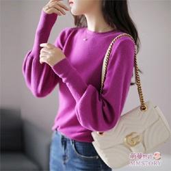 純色細線針織衫