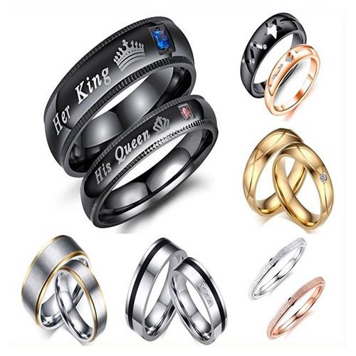 男女鈦鋼戒指