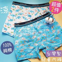 台灣製印花純棉兒童內褲2入