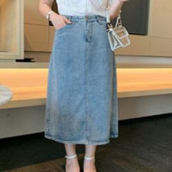 牛仔長裙藍XL~4L