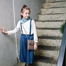 PIPPY寬鬆版吊帶式褲裙 藍