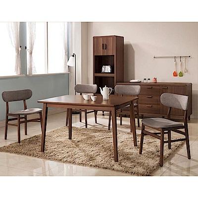 D&T德泰傢俱 愛維斯北歐生活餐桌椅組(一桌四椅)
