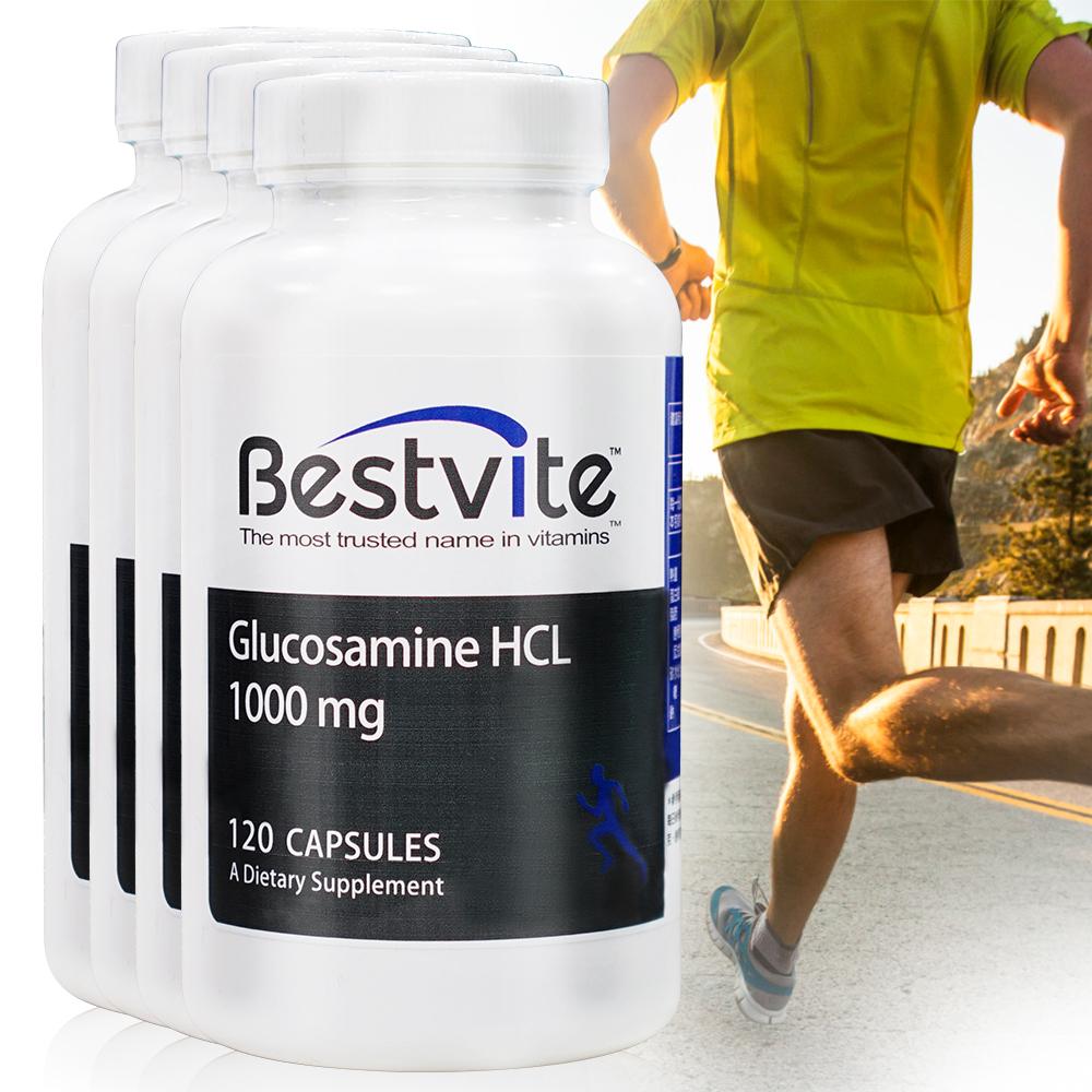 美國BestVite 必賜力葡萄糖胺膠囊4瓶組 (120顆/瓶)