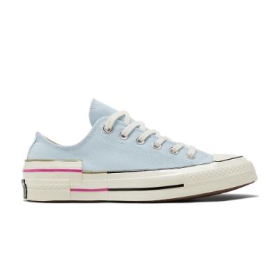 CONVERSE CHUCK 70 OX 低筒 百搭 拼接 舒適 女 休閒鞋 水藍色-570789C