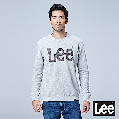 Lee 大LOGO圓領厚TEE/RG-淺灰色