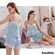 Naya Nina 公主藍蕾絲細肩衣短褲二件式套裝居家睡衣-藍F product thumbnail 1