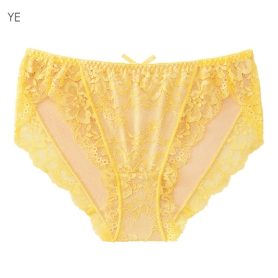 aimerfeel 編織風蕾絲內褲-黃色-669821-YE