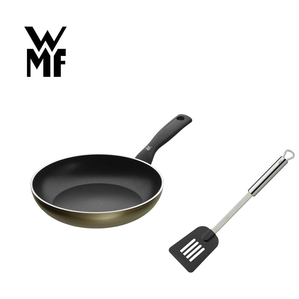 德國WMF PERMADUR 義大利製不沾平底煎鍋(24CM)+濾油鍋鏟