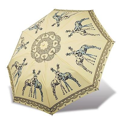 RAINSTORY 長頸鹿抗UV雙人自動傘(米黃)