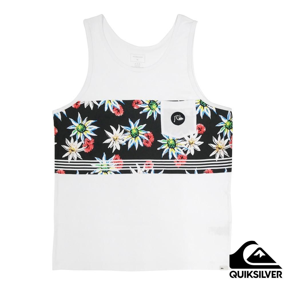 【Quiksilver】Feeling Fin Pocket Tank 純棉背心 白