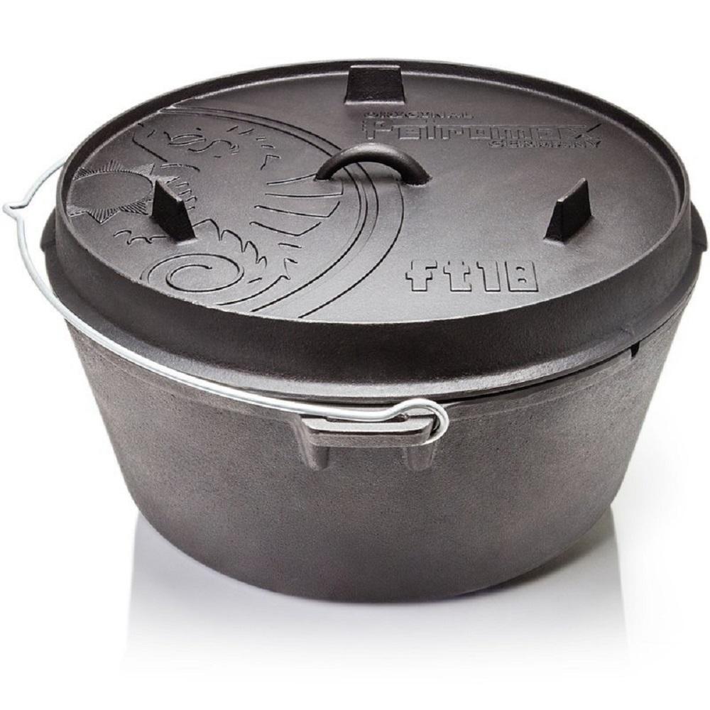 Petromax FT18-T 鑄鐵荷蘭鍋17吋(平底) 通過德國食品安全認證(LFGB)