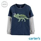 Carter's台灣總代理 恐龍趣味造型長袖上衣