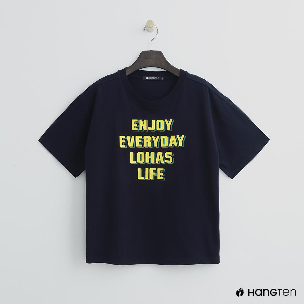 Hang Ten - 女裝 - 活力印字T恤 - 藍