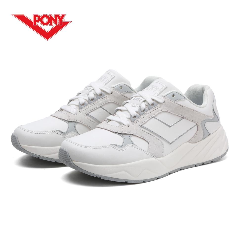 【PONY】Modern 復古風格饅頭/老爹鞋款-女-白