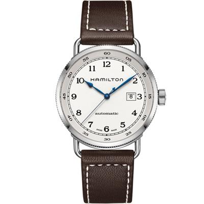 (無卡分期12期)HAMILTON  KHAKI 80小時動力機械錶(H77715553)