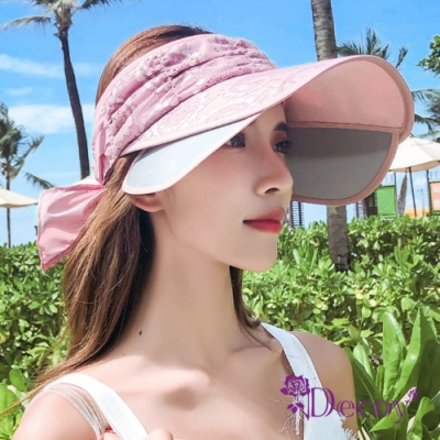 Decoy 花漾蕾絲 伸縮帽沿鏤空防曬遮陽帽 紫