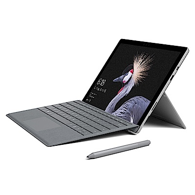 (無卡分期-12期)微軟 FJT-00011 12吋筆電(i5/HD Graphics 620/4G/128G SSD/Surface Pro/銀)