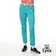 【Lynx Golf】女款日本進口布料混紡格紋窄管九分褲-藍綠色 product thumbnail 2