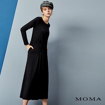 MOMA 活褶質感洋裝
