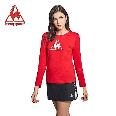 le coq sportif 法國公雞牌休閒長袖T恤 女-紅